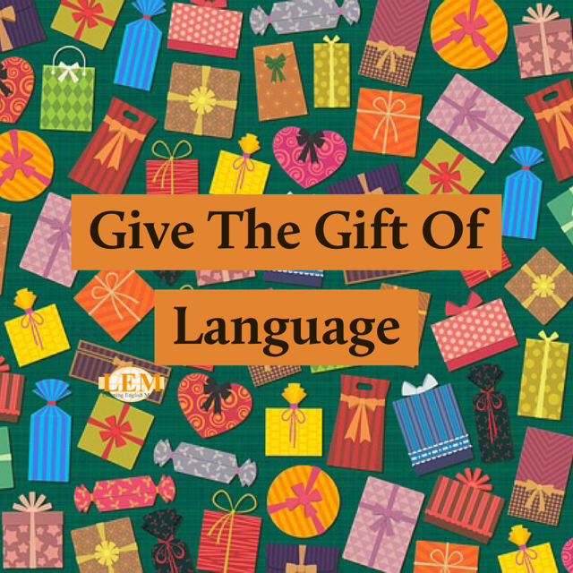 give the gift of language